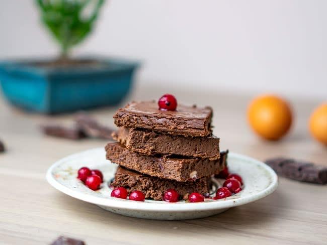 Brownie chocolat aux haricots rouges