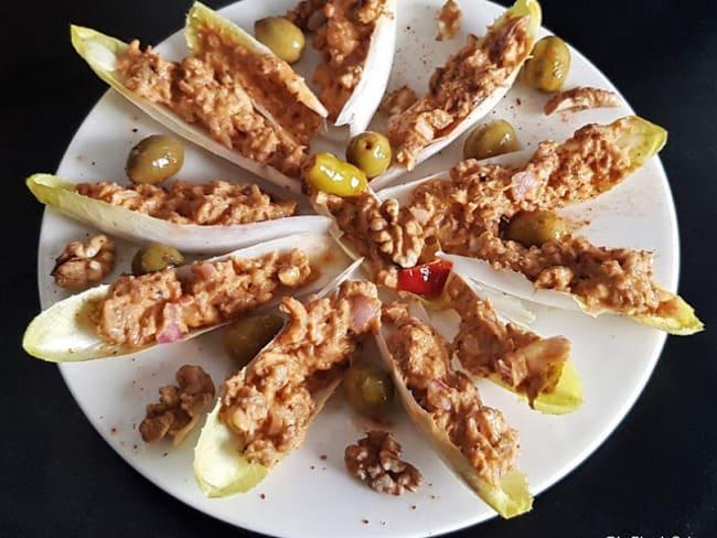 Tacos des sardines sur lit d'endive