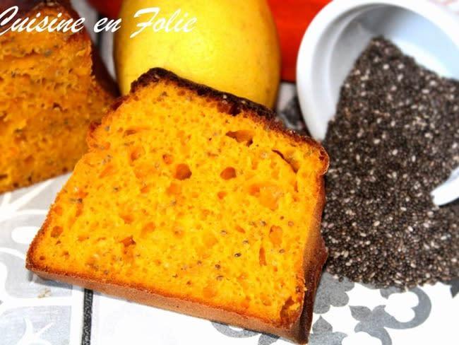 Cake healthy potimarron-chia-citron
