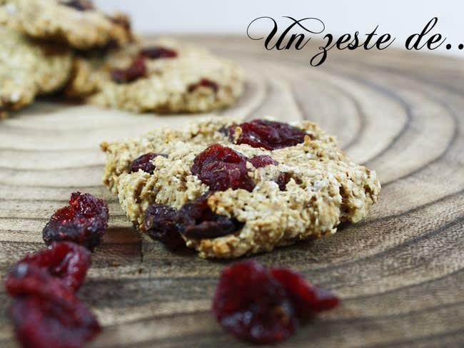 Biscuit avoine cranberries