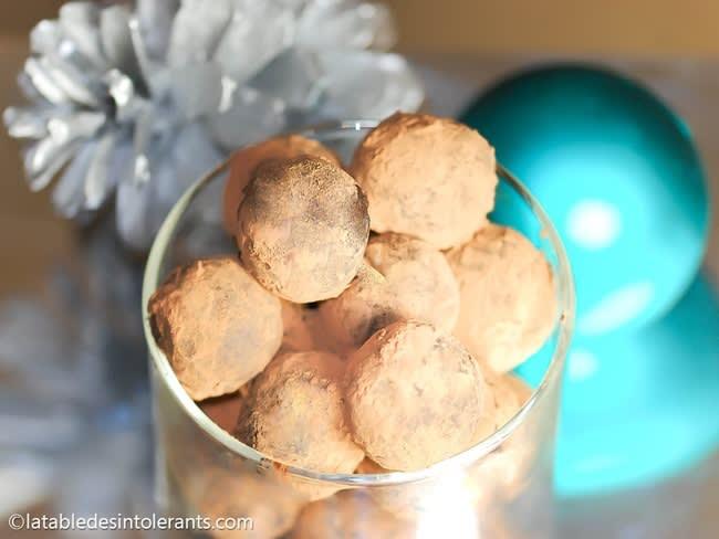 Truffes au chocolat et marron