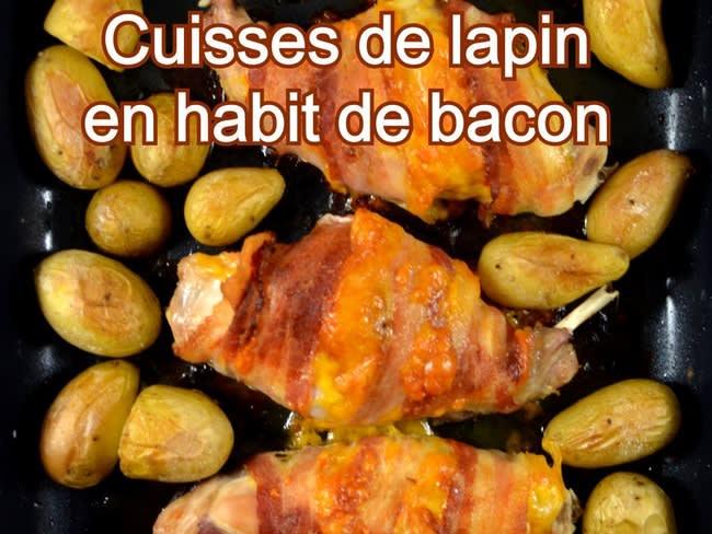 Cuisses de lapin habit de bacon