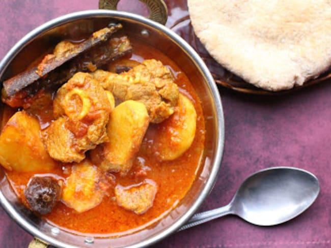Curry d'agneau aux navets