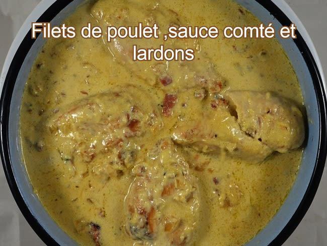 Filets de poulet sauce comté et lardons