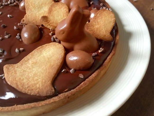 Tarte chocolat caramel beurre salé