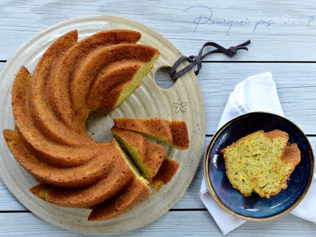 Cake orange pistache