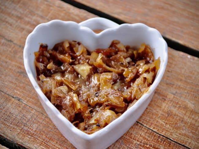 Confit d'oignon au vinaigre de framboise
