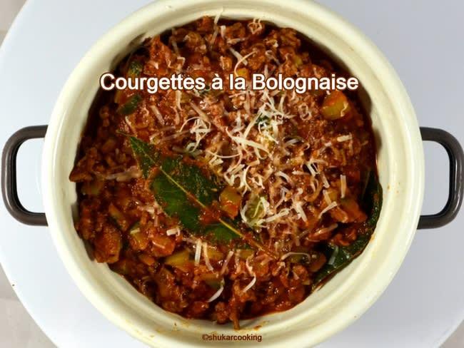 Courgettes à la Bolognaise