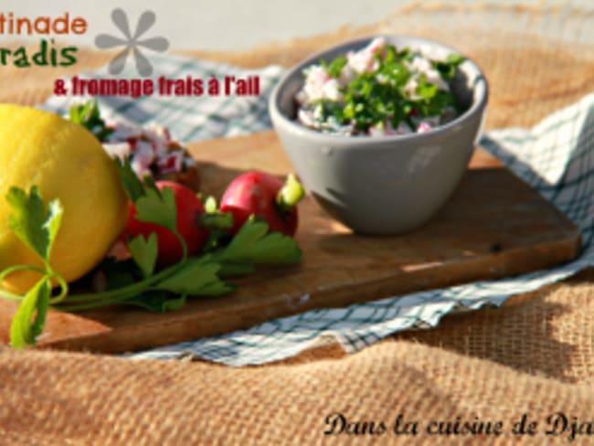 Tartinade de Printemps aux radis roses & fromage frais à l'ail