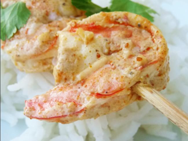 Crevettes tandoori