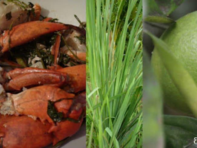 Crabe Sauté Citronnelle, Bigarade et Lait Fermenté