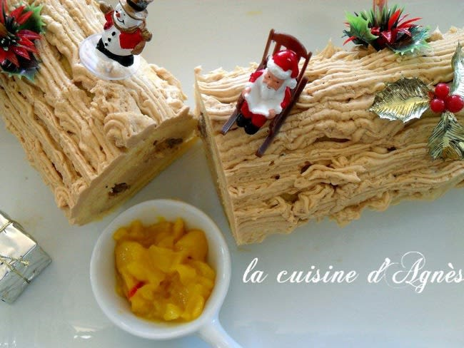 bûche de noël au foie gras
