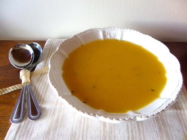 Soupe de potiron et panais