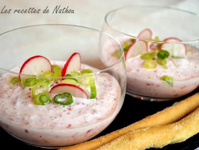 Mousse de radis au fromage blanc
