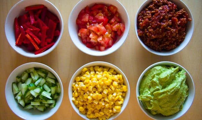 Ingrédients de la cuisine tex mex