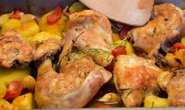 Cuisine simple poulet au four