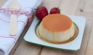 Crème renversée au caramel et fraises