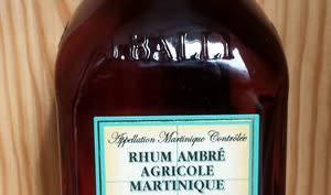 Rhum ambré de Martinique