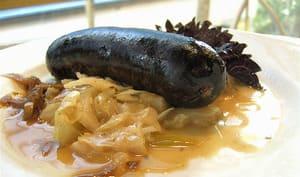 Boudin noir sur assiette