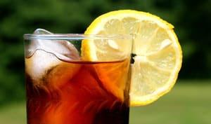 Verre de thé glacé