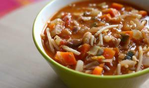 Soupe de minestrone de légumes