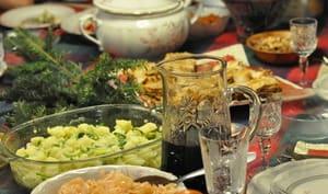 Repas de fêtes en Bulgarie