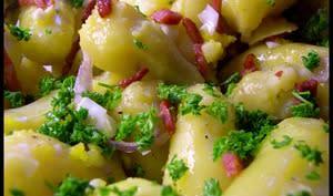 Rattes du Touquet, Oeuf, Persil, Bacon, Echalottes, Huile d'olive