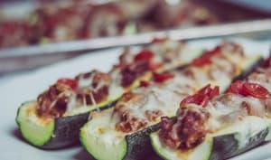 Courgettes façon pizza low carb