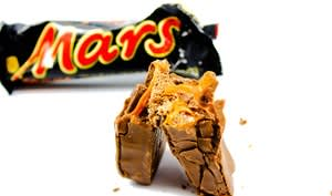 Mars la barre chocolatée
