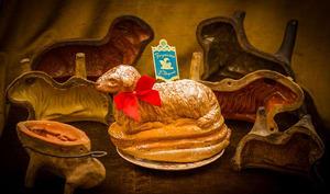 Agneau de Pâques et son moule en terre cuite