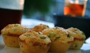 Muffins salés aux oignons et cheddar