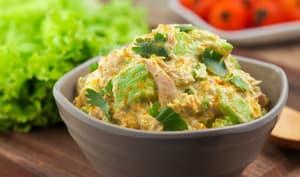 Salade d'avocat et thon au curry