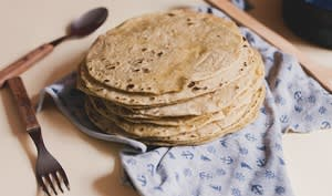 Tortillas prêtes à être garnies.