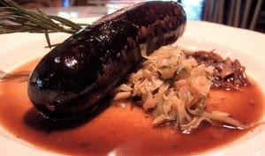 Boudin noir avec choucroute garnie