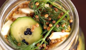 Bocal de pickles fait maison