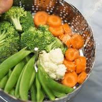 Panier de légumes cuits vapeur