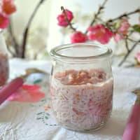 Verrines de riz au lait rose