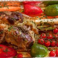 Gigot d'agneau et légumes