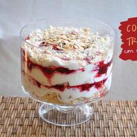 Trifle en grande coupe
