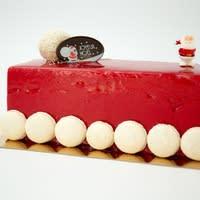 Bûche de noël glacée aux fruits rouges