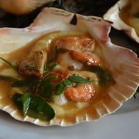 Coquille saint-jacques cuite au four