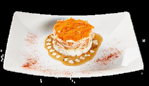 Salmon Tatar (mit Sushi Reis)