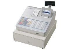 Cash register with flat keyboard - White