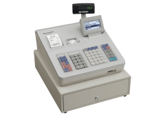Cash register with raised keyboard - White