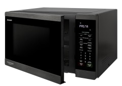 1200W Inverter Microwave - Black Steel