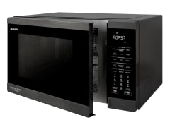 1100W Inverter Convection Microwave- Black Steel