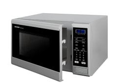 800W Compact Microwave - Silver