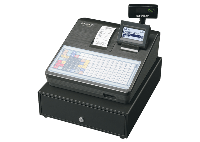 Cash register with flat keyboard - Black