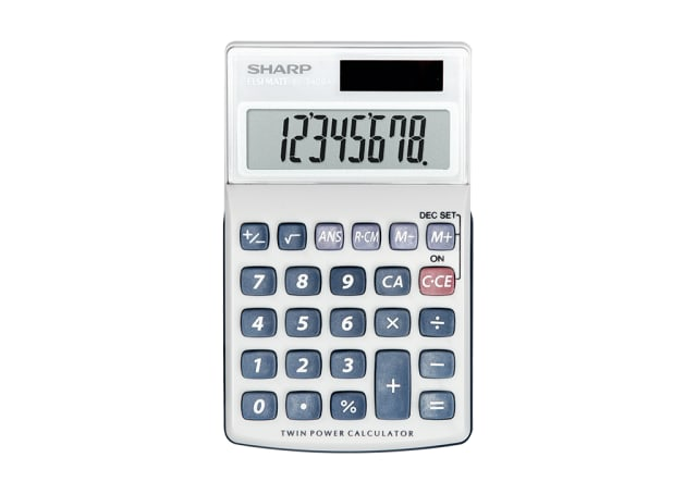8 Digit Twin Power Pocket Calculator