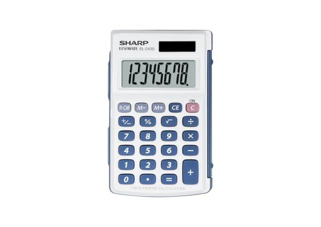 8 Digit Hard Cover Calculator